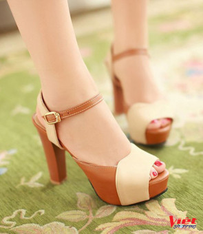 Giày cao gót phối màu LINA cao 10cm CG015180