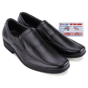 HL7709 - Giày tây Huy Hoàng mũi vuông xỏ chân màu đen