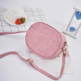 Fashion Women Leather Handbag Crossbody Shoulder Messenger Phone Coin Bag Pink - intl
