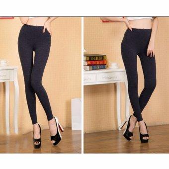 Quần legging thun nữ không đạp gót(xám)