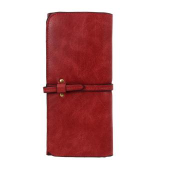 Women Leather Clutch Wallet(Burgundy) - intl
