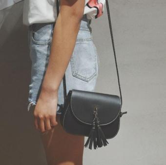Women Fashion Handbag Tassel Shoulder Bag Large Tote Ladies Purse BK - intl
