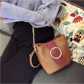 Túi đeo chéo gam màu pastel siêu xinh - T1414N ( màu nâu )