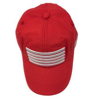Nón lưỡi trai đỏ sọc ngang cá tính M51