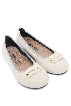 Giày búp bê nữ da bò Minh Tâm MT753GN (Xám)