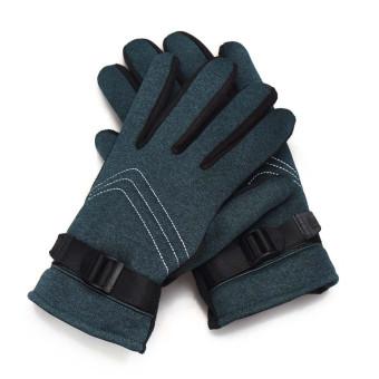 Anti Slip Men Thermal Winter Motorcycle Ski Snow Snowboard Gloves Green - Intl