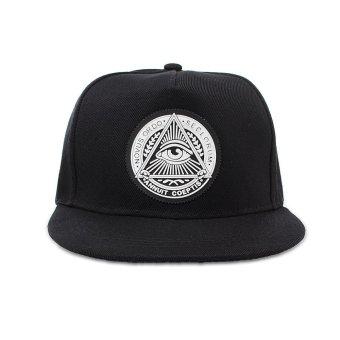 Fashion Men baseball Snapback Hat Hip-Hop adjustable bboy cap sport hat black NEW - intl