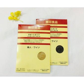 Bộ 6 quần tất (vớ) nữ Nhật Bản MNB164A (da, đen)