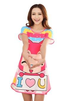 Váy ngủ nữ Family Shop VNF33 (Hồng)