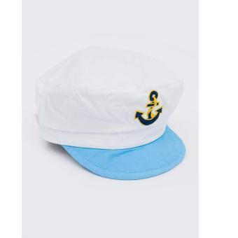 Nón bé trai thủy thủ Hàn Quốc nhập khẩu 2-4 tuổi MÀU TRẮNG