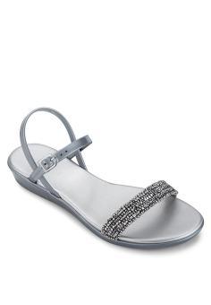 Giày sandal nữ Holster SERENADE WEDGE (Bạc)