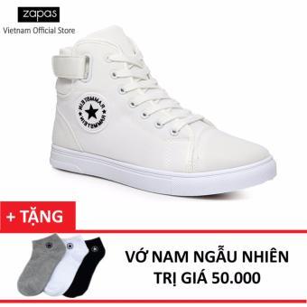 Giày Sneaker Thời Trang Nam Zapas GS020 (Trắng) + Tặng Vớ Nam