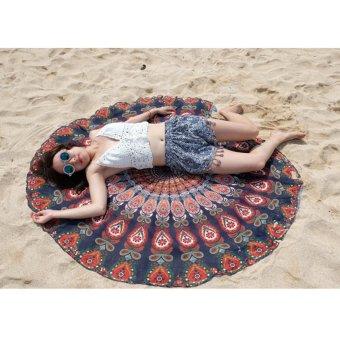 Indian Mandala Tapestry Summer Beach Towel Hippie Picnic Blanket Yoga Throw Mat Purple - intl