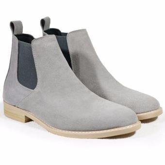 Boots cổ lửng phối thun Tathanium Footwear TFLGTGYS8812 (Xám lợt)