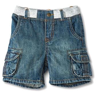 Quần short jeans bé trai Cherokee (xanh đen)
