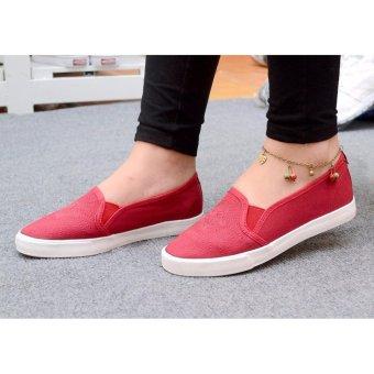 Giày lười vải nữ đế êm - TiLaMi - VSV004 (mận chín)