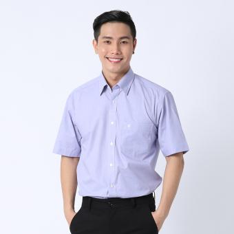 Áo sơ mi công sở tay ngắn Việt Tiến 1G1885NT4/S4 (Tím)