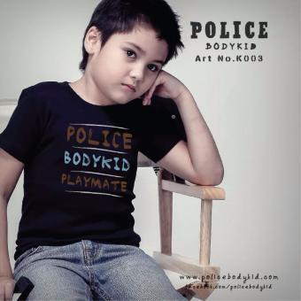 Áo thun trẻ em Police Bodykid nhập khẩu Thái Lan K003 (Đen)