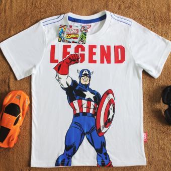 Áo thun Captain America ngắn tay cổ tròn