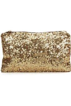 Túi cầm tay kim sa (Vàng gold)