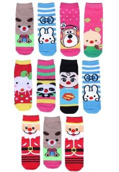 Bộ 11 đôi tất vớ trẻ em từ 5-8 tuổi bé gái SoYoung 11SOCKS 004 5T8 GIRL
