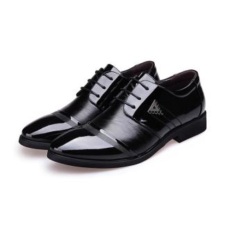 Giày da nam đế cao ZANI ZMG8523BL (Đen)