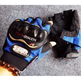 Găng tay cụt ngón Probiker chuyên phượt (Xanh dương)