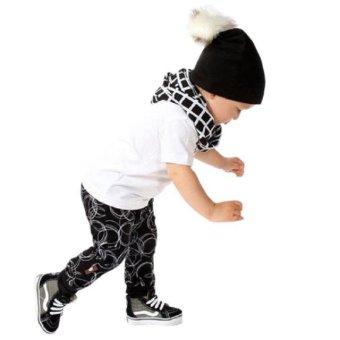 1Set Newborn Baby Boys Infant Clothes T-shirt Tops+Long Pants Outfits - intl