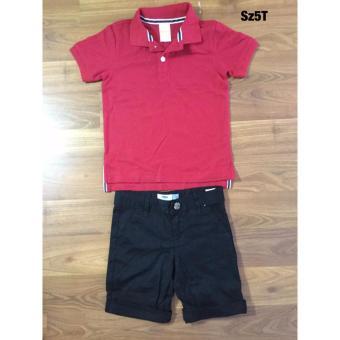 Sét quần kaki áo thu bé trai-5T-(Đỏ)