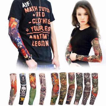 Bộ 5 đôi găng tay hình xăm 3D Tattoo Sleeve