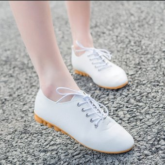Fashion Women Stripe Flats Slip On Oxfords Canvas Sneakers Casual Loafers Shoes - intl