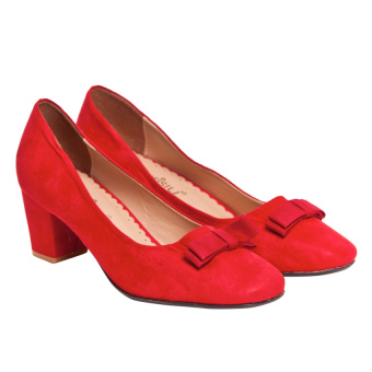 Giày cao gót nữ bít mũi Sarisiu GV741 (Đỏ)