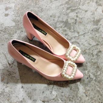 Giày cao gót đính trai Dolly & Polly Made in Vietnam