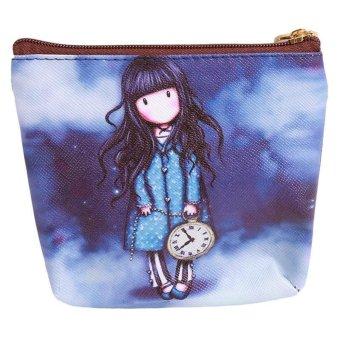 LALANG Mini Cute Cartoon Girl Canvas Coin Purse Key Wallet Storage Bag 5# - intl