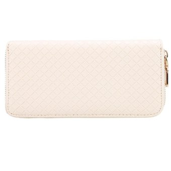 Linemart New Women Clutch Wallet Long Card Holder Case Purse Wallet ( Beige ) - intl