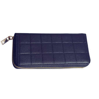 New Fashion Women PU Leather Wallet Long Clutch Coin(Black)