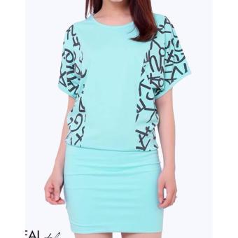 Đầm thun nữ ôm body cotton 100% dày TRI LAN DAM020 (Xanh Dương Nhạt)
