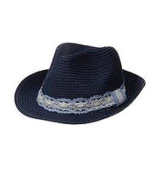 Mũ (nón) phớt nữ Xanh navy RAMPAGE Women's Crochet Banded Fedora (Mỹ)