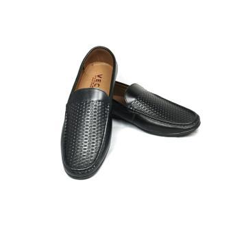 Giày lười da nam cao cấp GL-04 (Đen)