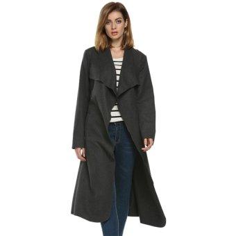Cyber Finejo Cool Fashion Women Autumn Winter Long Wool Coat With Belt - Intl