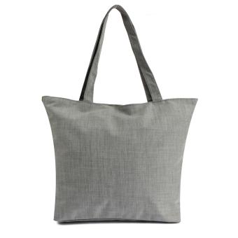 Women Canvas Handbag Shoulder Beach Satchel Shopping Messenger Blue (Intl)