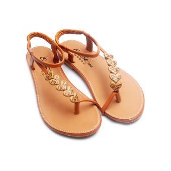 Giày xăng đan Lopez Cute D121 (Nâu)