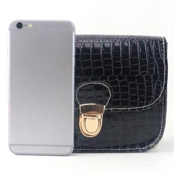 Women Fashion Crocodile Pattern Handbag Shoulder Bag Small Tote Ladies Purse - intl