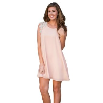 Fashion Women Retro lace Mini Chiffon Short Dress - Intl - intl