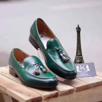 Giày loafer nam cao cấp Kazin màu xanh KZX0022