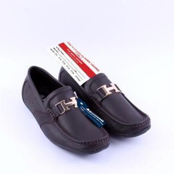 Giày lười nam Da Thật chính hãng Giày Da Miền Trung VCT3LZD72N ( Nâu )