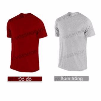 Bộ 2 áo thun LAKA A1116 (Đỏ đô +Xám trắng)