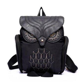 Women Leather Owl Backpack Female Mujer Mochila Escolar Feminina School Bag - intl