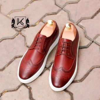 Giày da Sneaker năng động Kazin màu nâu đỏ - KZND048