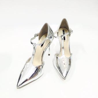 Giày cao gót nữ (Bạc)